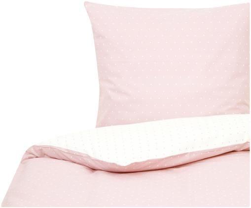 Dwustronna pościel z bawełny renforcé Alexa, Blady różowy, kremowy
