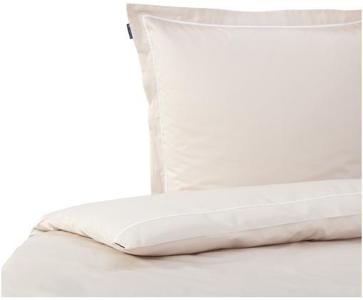 Baumwollsatin-Bettwäsche Sateen Star, Beige, Weiß