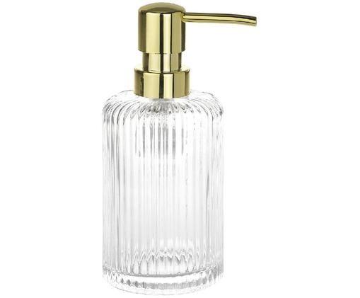 Dosificador de jabón Gulji, Transparente, dorado