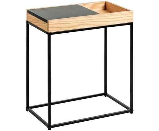 Tavolino Detail, Legno di quercia, nero