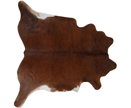 Tappeto in pelle di mucca Jura, Marrone, beige