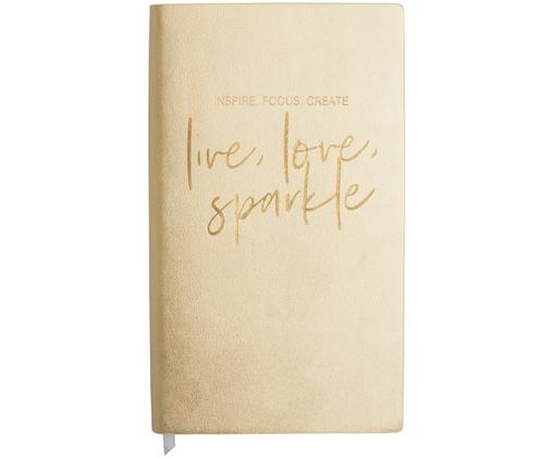 Notizbuch Live, Love, Sparkle, Goldfarben