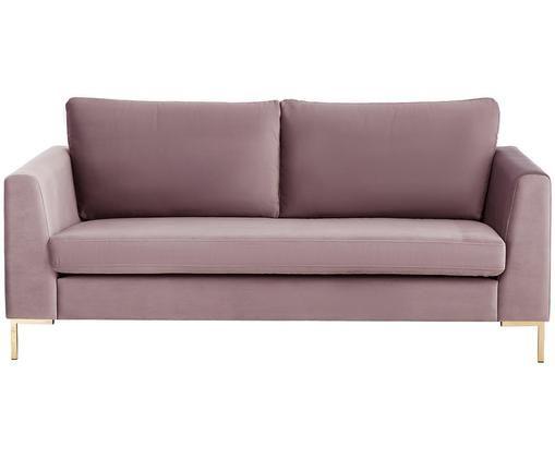 Samt-Sofa Luna (2-Sitzer), Altrosa
