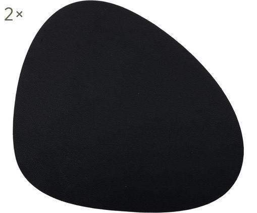 Ovales Leder Tischsets Leni, 2 Stück