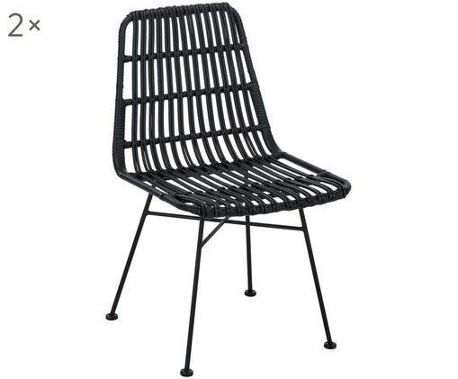 Polyrattan-Stühle Costa, 2 Stück