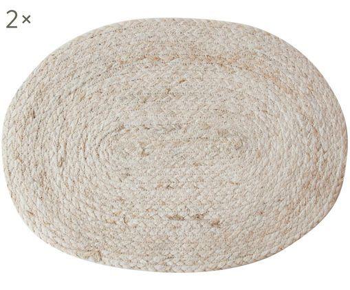 Ovale Handgefertigte Tischsets Connie aus Maisblättern, 2 Stück