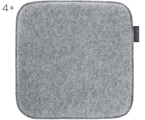 Filz-Sitzauflagen Avaro Square, 4 Stück
