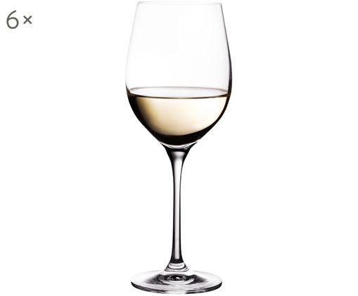 Weißweingläser Harmony aus glattem Kristallglas, 6er-Set