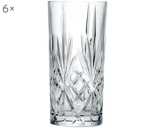 Kristall-Longdrinkgläser Melodia mit Reliefmuster, 6er-Set