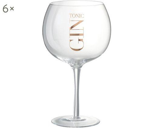 Gin Tonic Gläser mit Aufschrift, 6 Stück