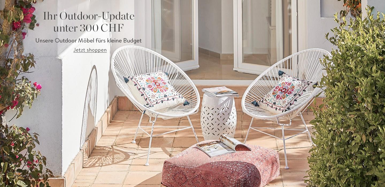 Unsere Outdoor Möbel fürs kleine Budget: Ihr Outdoor-Update unter 300 CHF