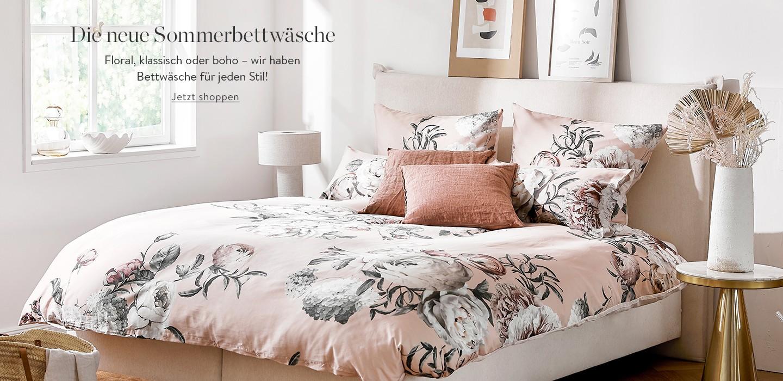 Die neue Sommerbettwäsche: Floral, klassisch oder Boho – wir haben Bettwäsche für jeden Stil!
