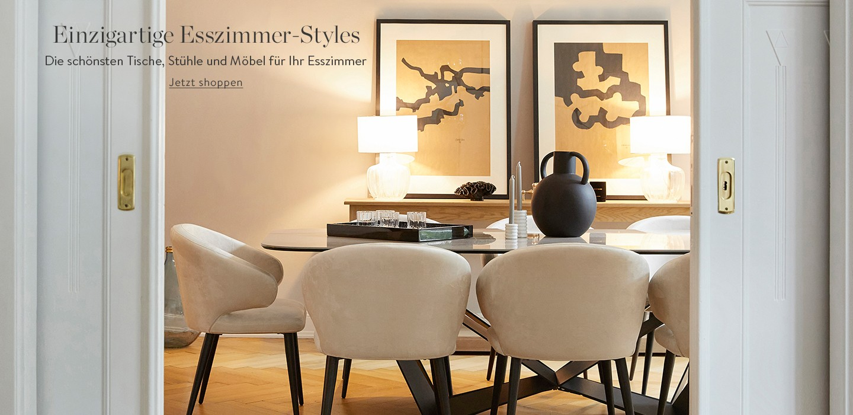 Einzigartige Esszimmer-Styles Die schönsten Tische, Stühle und Möbel für Ihr Esszimmer