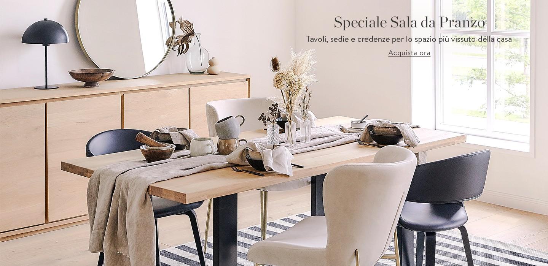 Speciale Sala da Pranzo Tavoli, sedie e credenze per lo spazio più vissuto della casa