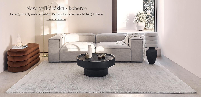 Naša veľká láska - koberce  Hranatý, okrúhly alebo aj behúň? Každý si tu nájde svoj obľúbený koberec.