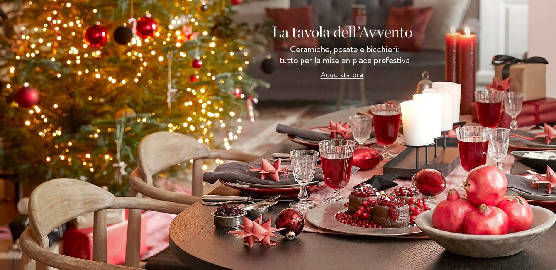 La tavola dell'Avvento Ceramiche, posate e bicchieri: tutto per la mise en place prefestiva