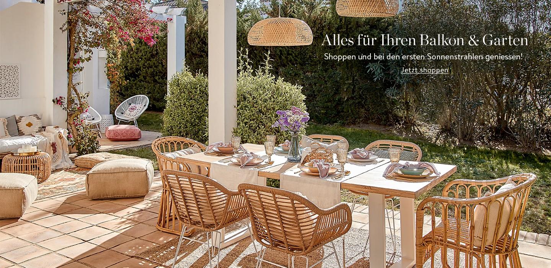 Alles für Ihren Balkon & Garten Schnell shoppen und die ersten Sonnenstrahlen auf dem Balkon oder der Terrasse geniessen