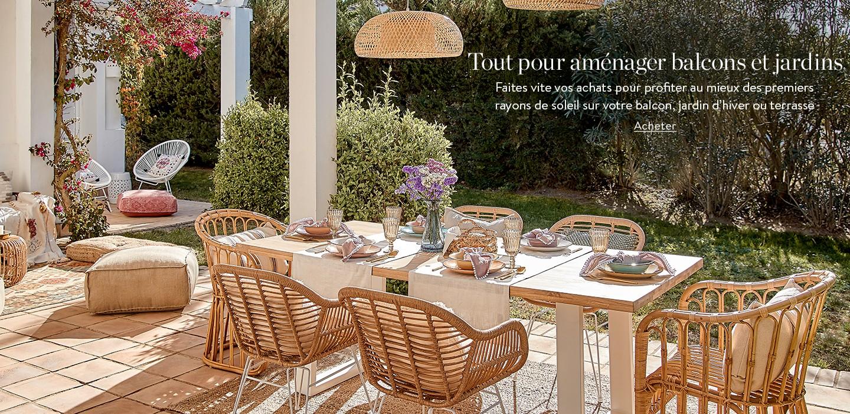 Tout pour aménager balcons et jardins Faites vite vos achats pour profiter au mieux des premiers rayons de soleil sur votre balcon, jardin d'hiver ou terrasse