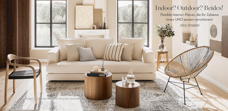 Indoor? Outdoor? Beides!  Flexible Interoir-Pieces, die ihr Zuhause innen UND außen verschönern