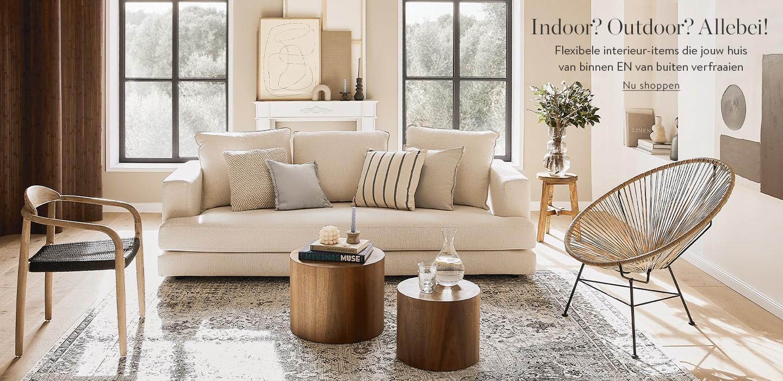 Indoor? Outdoor? Allebei!   Flexibele interieur-items die jouw huis van binnen EN van buiten verfraaien