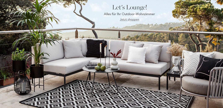 Let's Lounge! Outdoor-Sets, Liegestühlen und mehr für Ihr Outdoor-Wohnzimmer