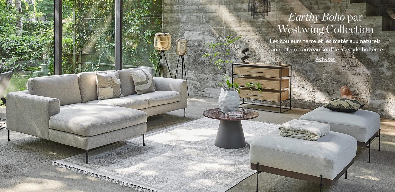 Earthy Boho par Westwing Collection Les couleurs terre et les matériaux naturels donnent un nouveau souffle au style bohème