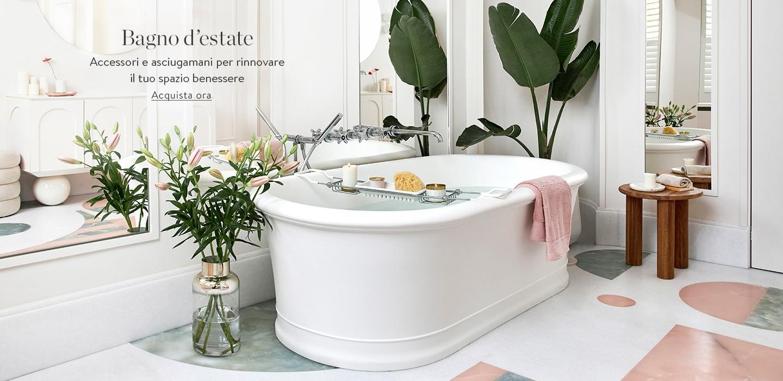 Bagno d'estate Accessori e asciugamani per rinnovare il tuo spazio benessere