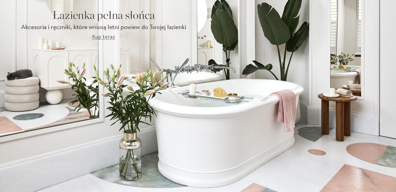 Łazienka pełna słońca Akcesoria i ręczniki, które wniosą letni powiew do Twojej łazienki.