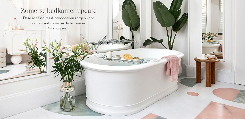 Zomerse badkamer update Deze accessoires & handdoeken zorgen voor instant zomer in de badkamer