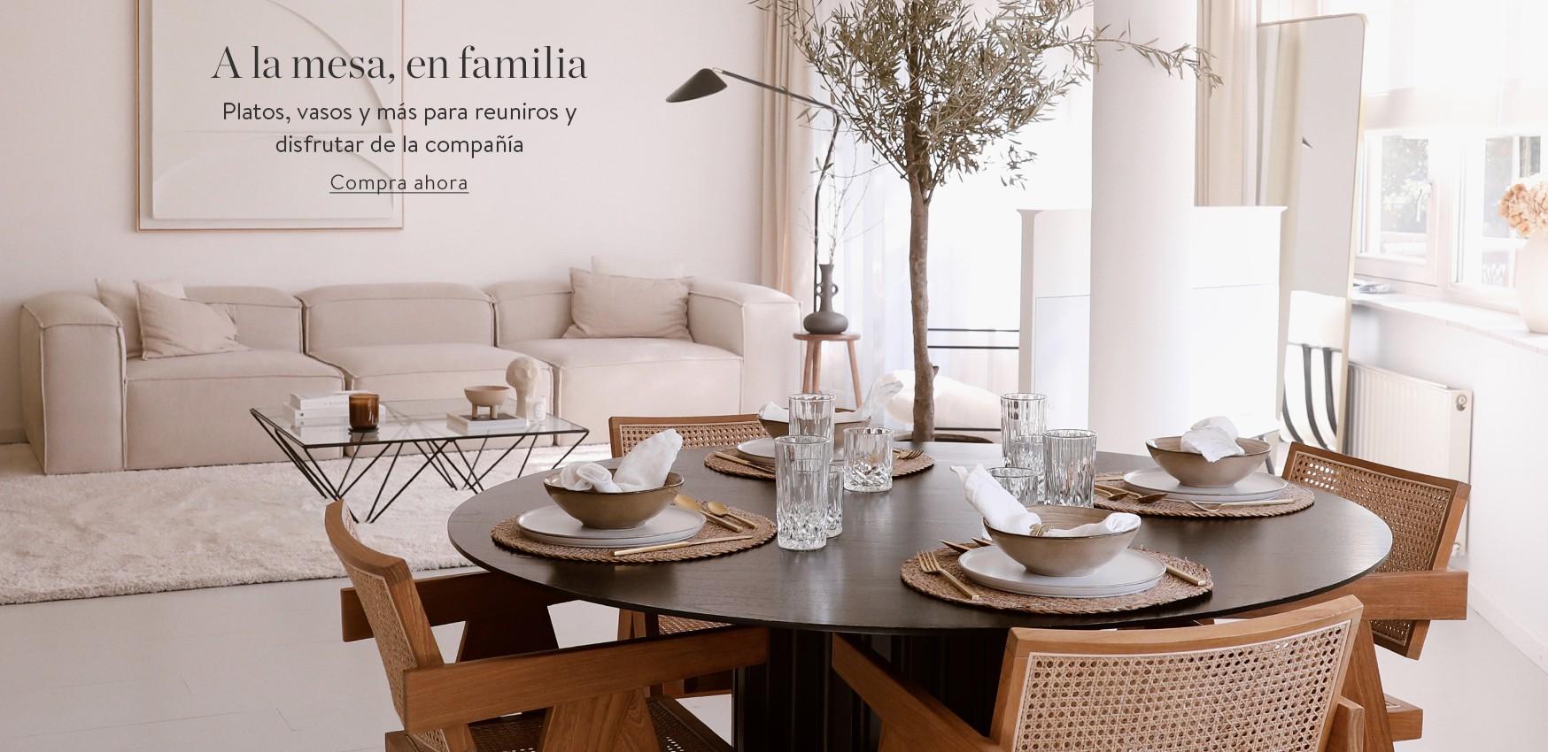 A la mesa, en familia Platos, vasos y más para reuniros y disfrutar de la compañía