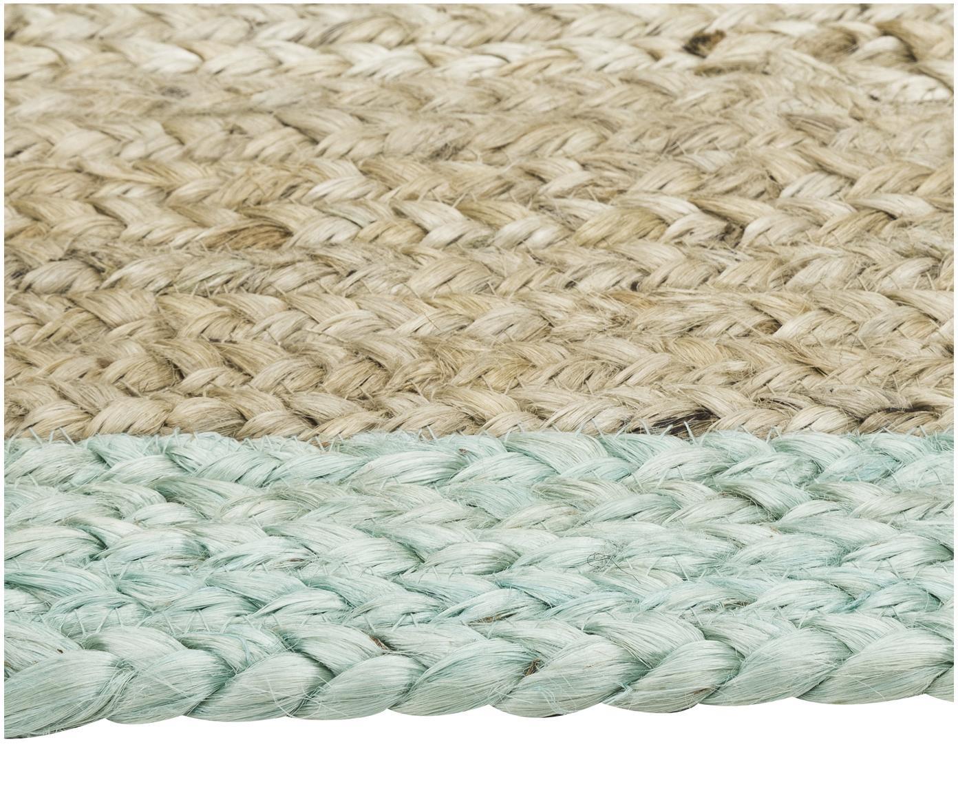 Ręcznie tkany dywan z juty  Shanta, Juta, zielony miętowy, S 160 x D 230 cm (Rozmiar M)