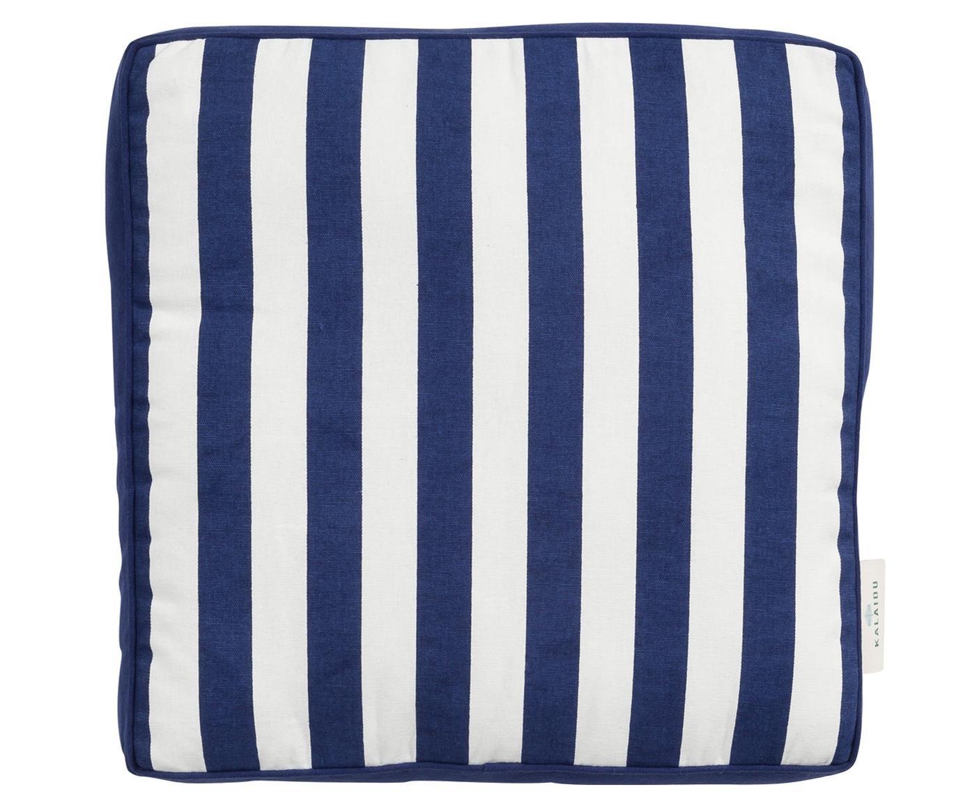 Cuscino sedia Mason, 100% cotone, Blu marino, bianco crema, P 45 x L 45 cm
