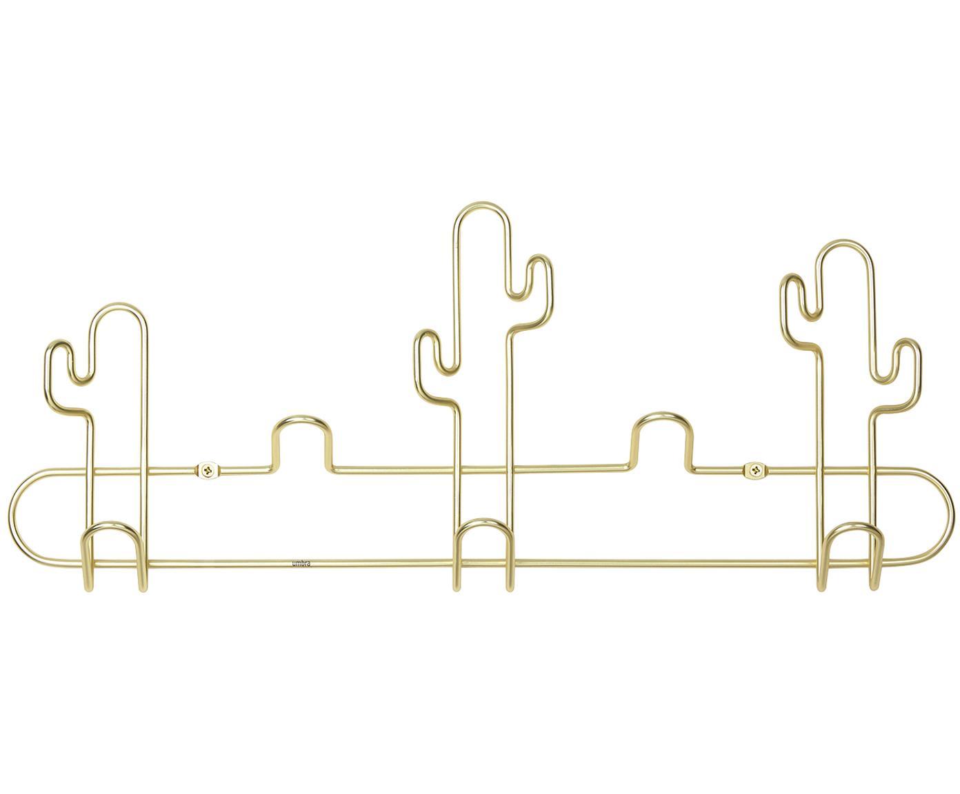 Metall-Wandgarderobe Desert in Goldfarben, Metall, lackiert, Messingfarben, 43 x 18 cm