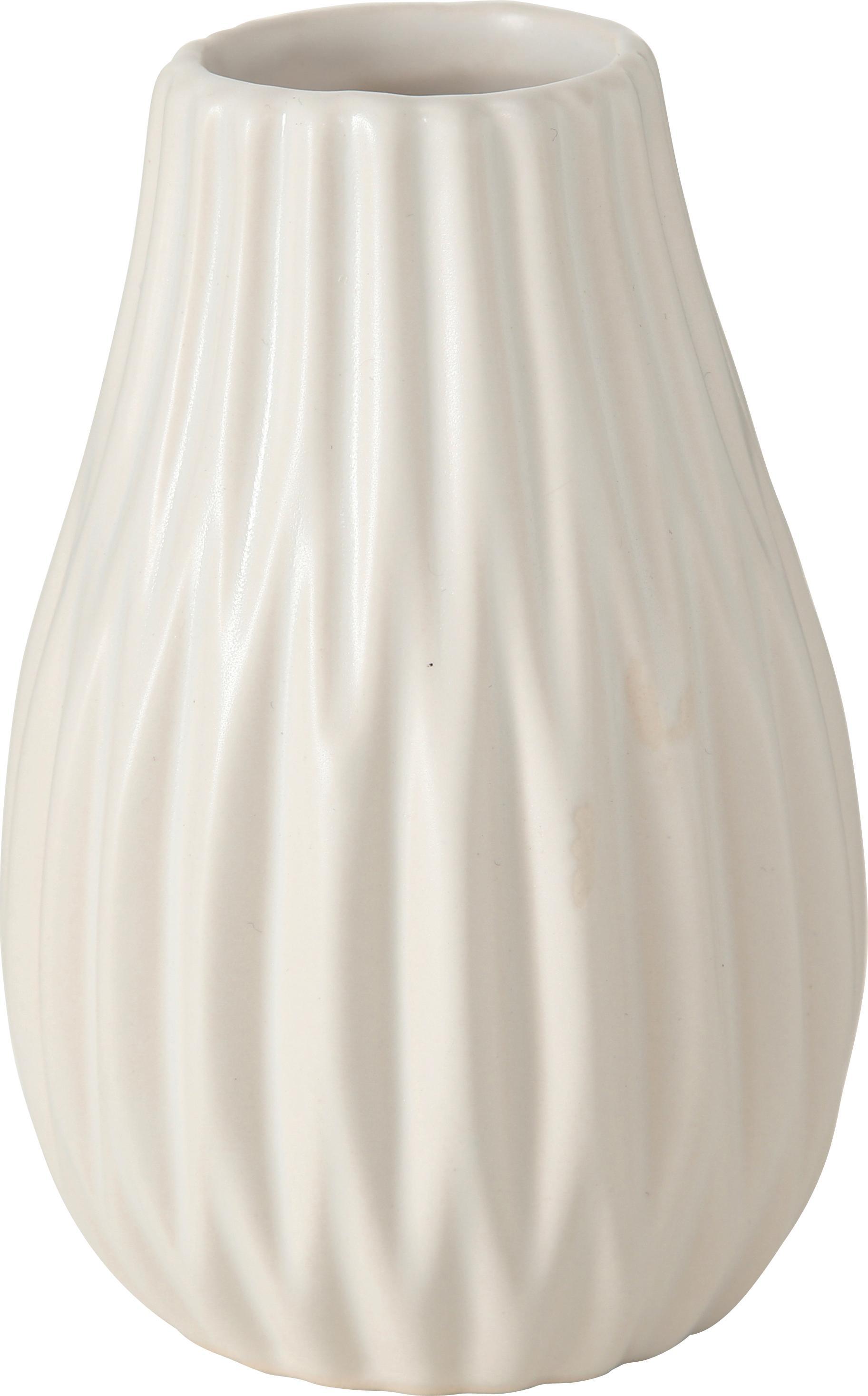 Vazenset Wilma, 3-delig, Keramiek, Grijs, wit, roze, Ø 8 x H 14 cm