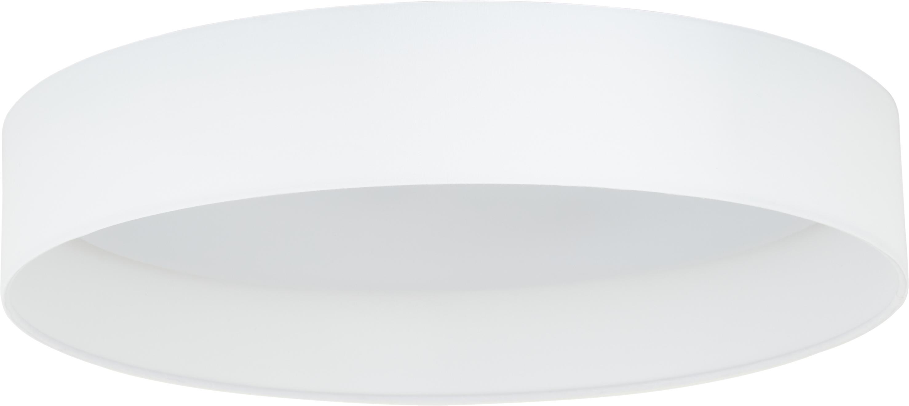 LED plafondlamp Helen, Frame: metaal, Diffuser: kunststof, Wit, Ø 52 x H 11 cm