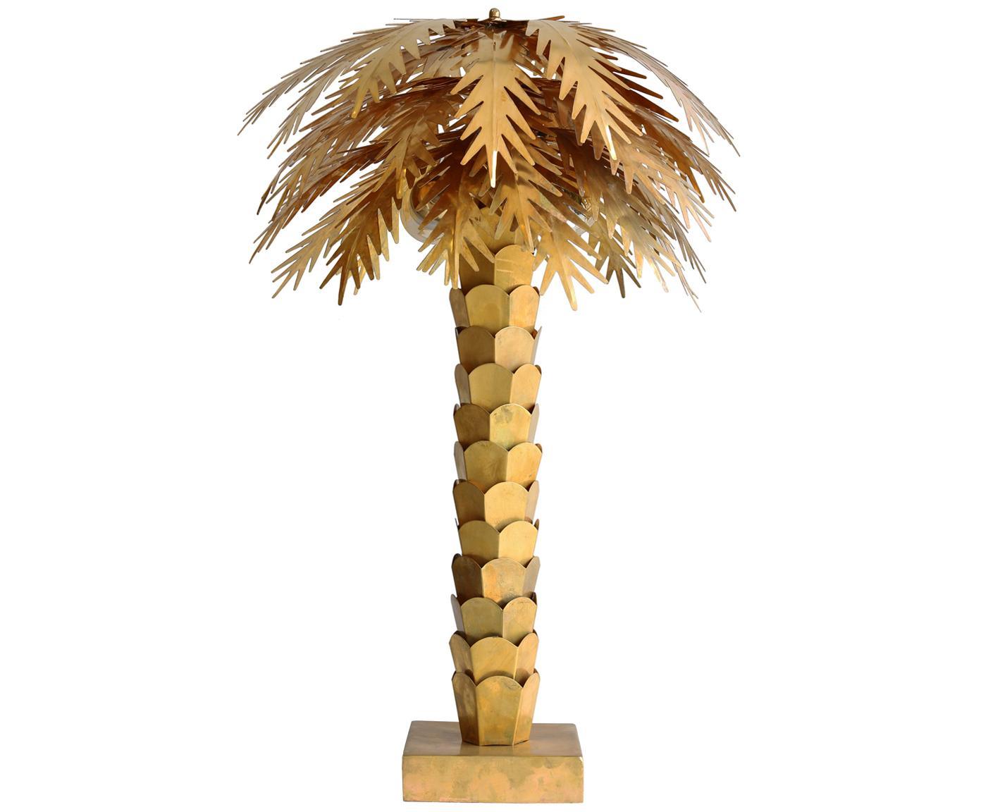 Dimbare XL tafellamp Palma, Messing, Messingkleurig, Ø 45 x H 68 cm