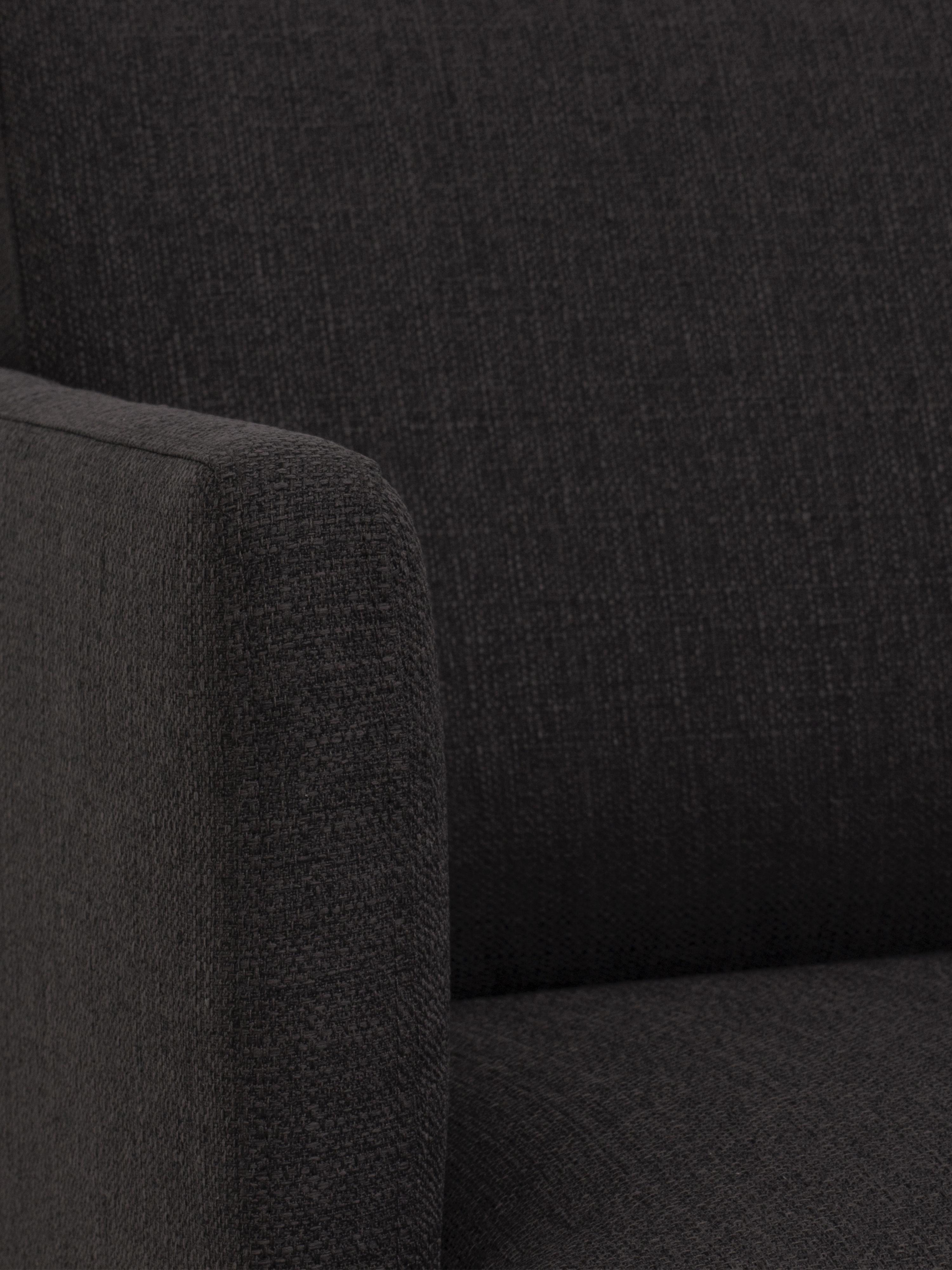 Canapé d'angle tissu gris foncé Fluente, Tissu gris foncé