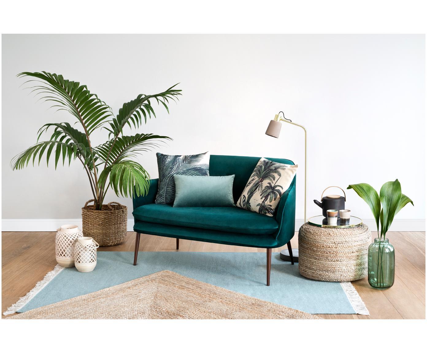 Federa arredo Palmeira, Cotone, Ecru, verde, Larg. 40 x Lung. 40 cm
