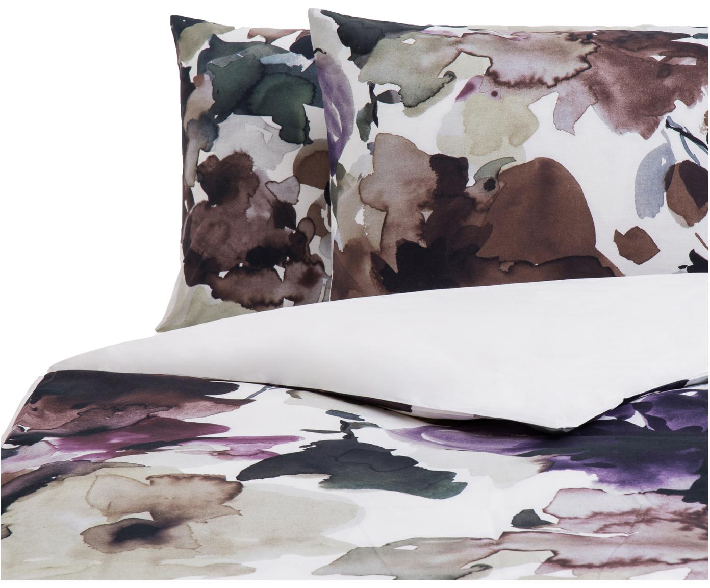 Parure copripiumino reversibile in cotone Sunset Garden, Cotone, Multicolore, 200 x 200 cm