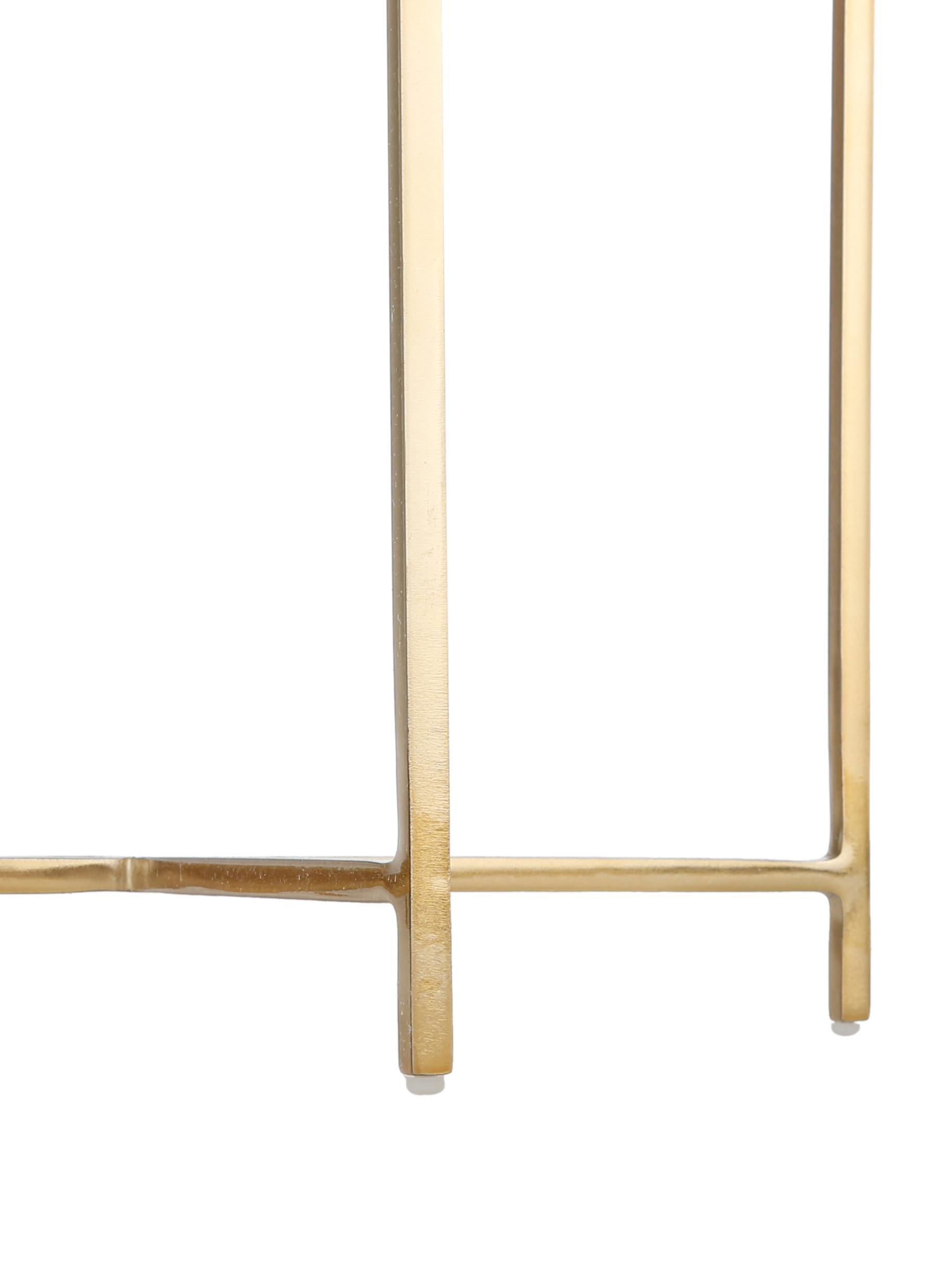 Stołek z aksamitu Madeleine, Tapicerka: aksamit bawełniany, Noga: metal malowany proszkowo, Tapicerka: blady różowy Noga: odcienie złotego, matowy, Ø 40 x W 50 cm