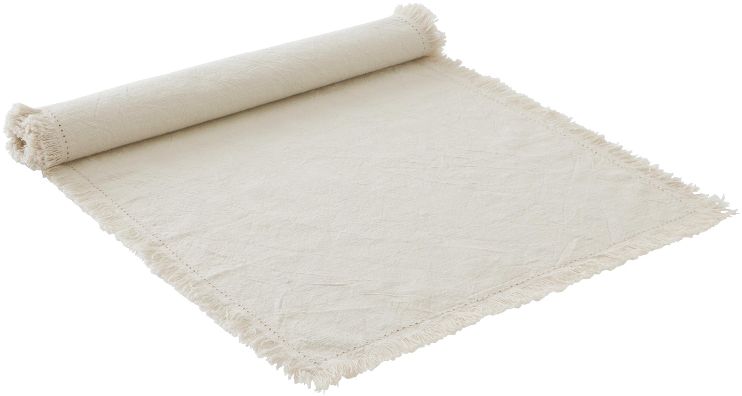 Camino de mesa Hilma, 100%algodón, Gris pardo, An 40 x L 140 cm