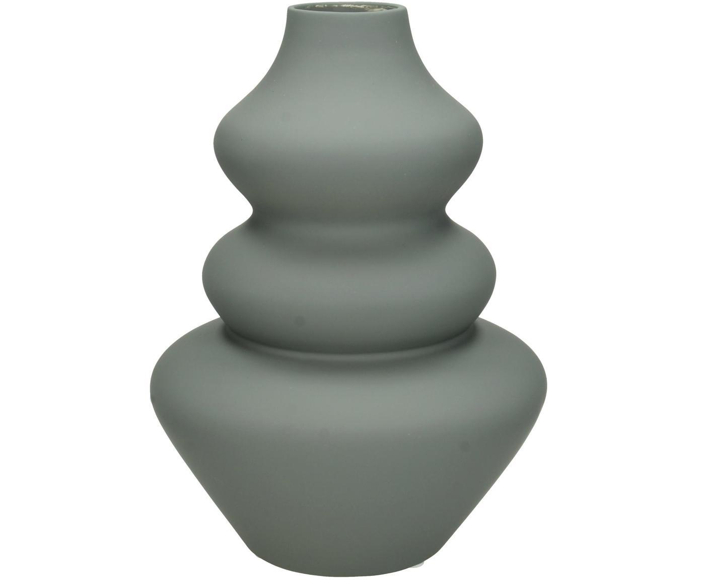 Vaso in terracotta Thena, Terracotta, Grigio, Ø 15 x Alt. 22 cm