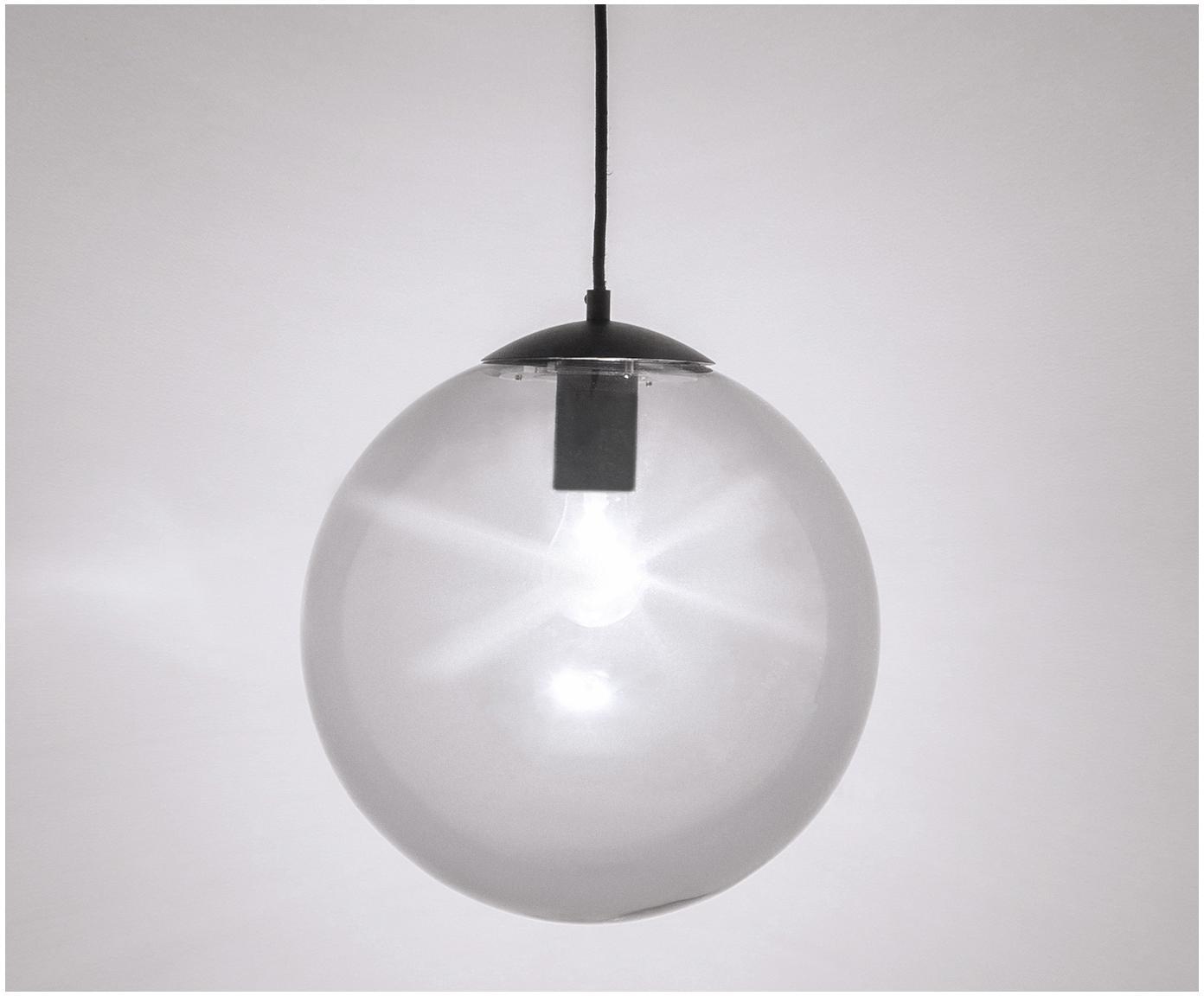 Hanglamp Beth, Lampenkap: glas, Grijs, zwart, Ø 30 cm