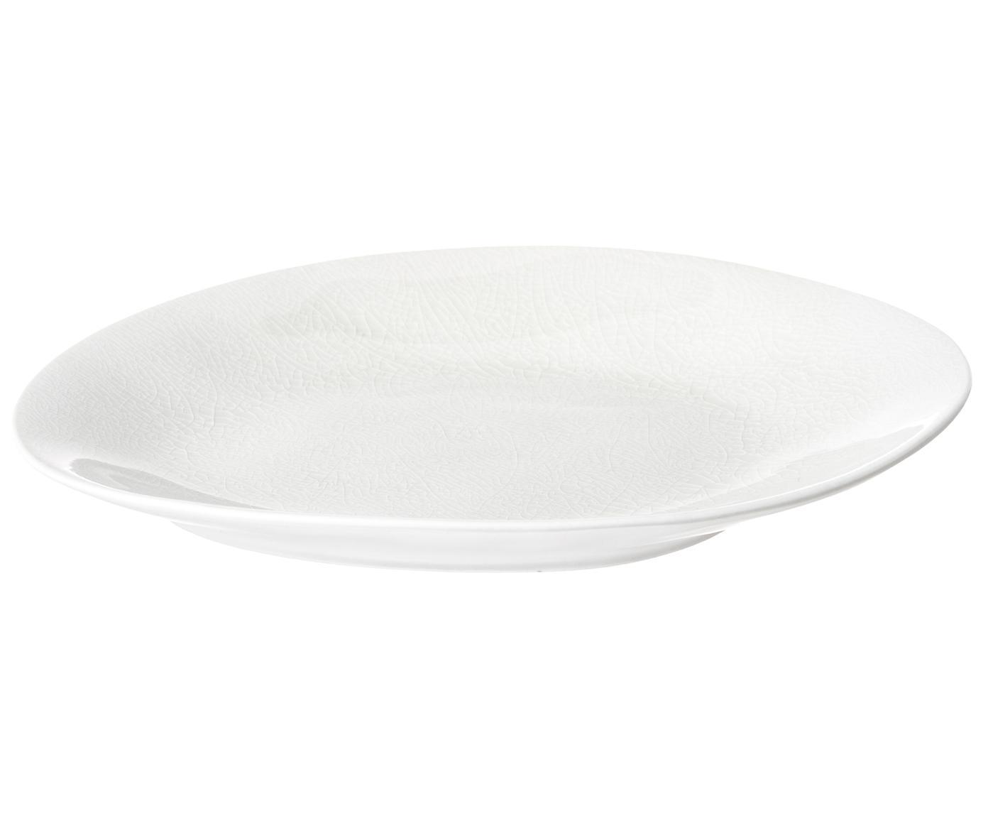 Piatto da dessert à la Maison, Porcellana, Crema, P 18 x L 20 cm