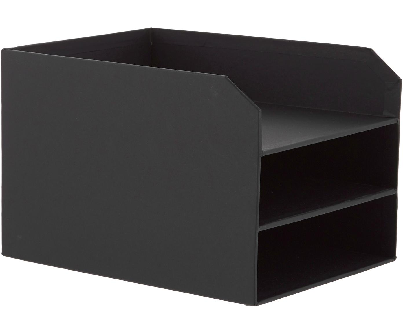 Organizer per documenti  Trey, Cartone solido e laminato, Nero, Larg. 23 x Alt. 21 cm