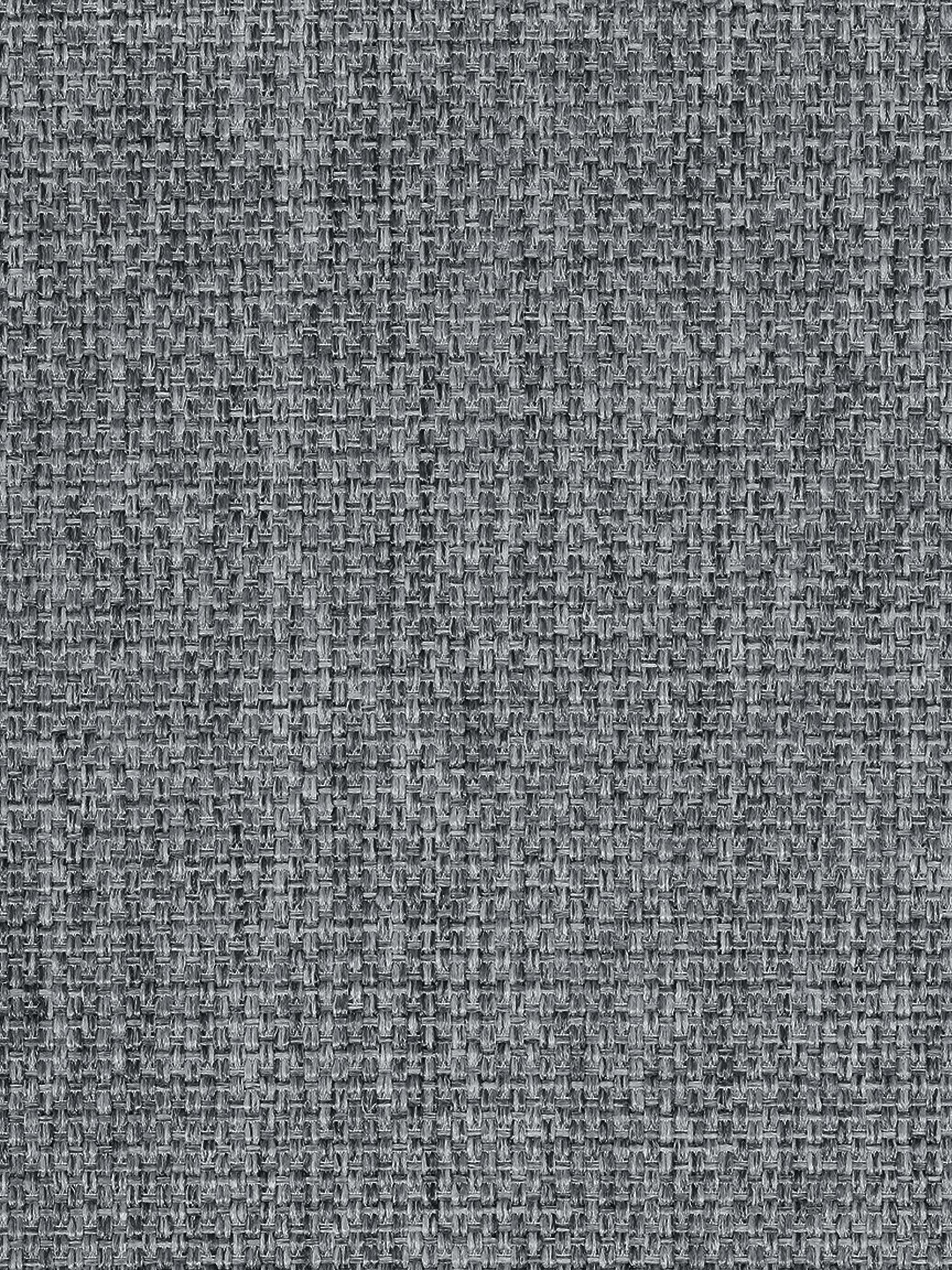 Sofa Emma (3-Sitzer), Bezug: Polyester 100.000 Scheuer, Gestell: Massives Kiefernholz, Füße: Metall, pulverbeschichtet, Webstoff Grau, Füße Schwarz, B 227 x T 100 cm