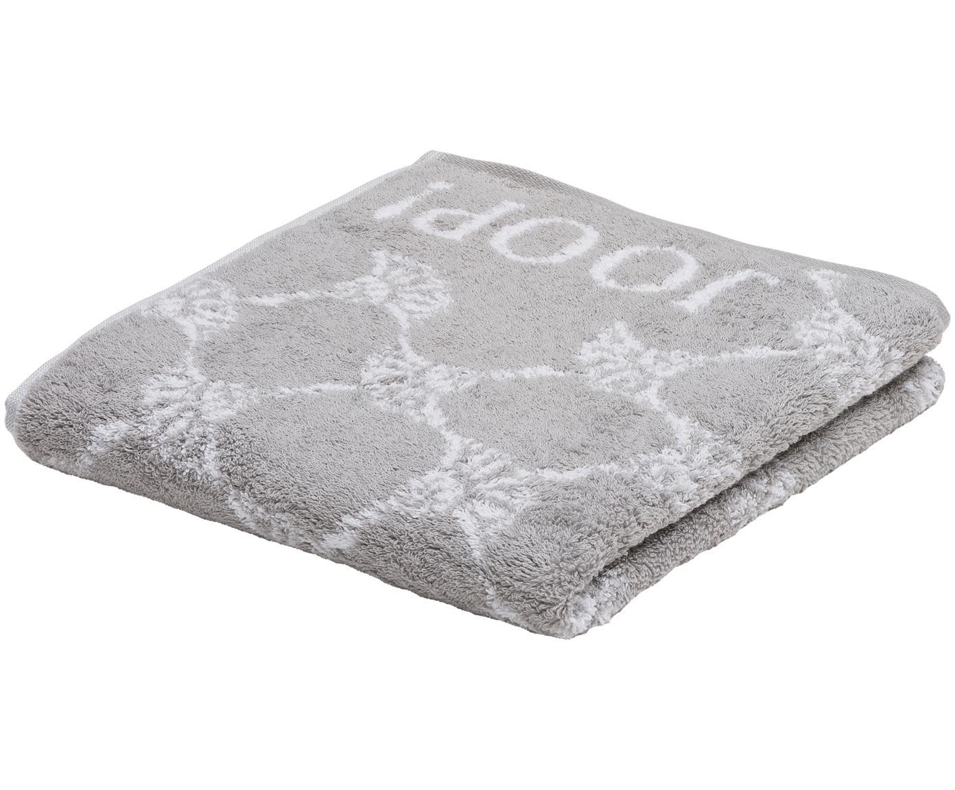 Handdoek Classic Cornflower met korenbloemen print, Katoen (badstof), middelzware kwaliteit, 536 g/m², Zilvergrijs, wit, Handdoek