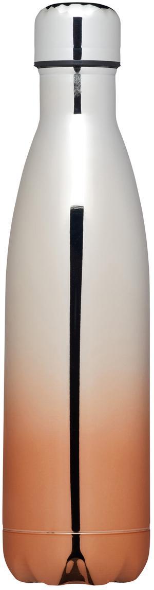 Thermosfles Rocky, Bovenzijde: gepolijst edelstaal, Onderzijde: verkoperd en gepolijst ed, Edelstaalkleurig, kopekleurig, Ø 6 x H 27 cm