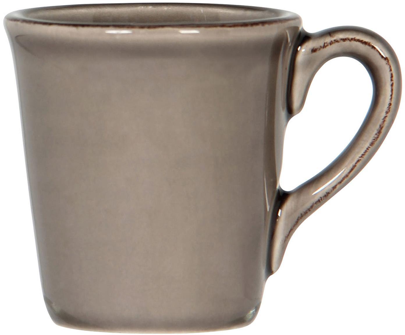 Espressokopjes Constance in bruin, 2 stuks, Keramiek, Bruin, Ø 8 x H 6 cm