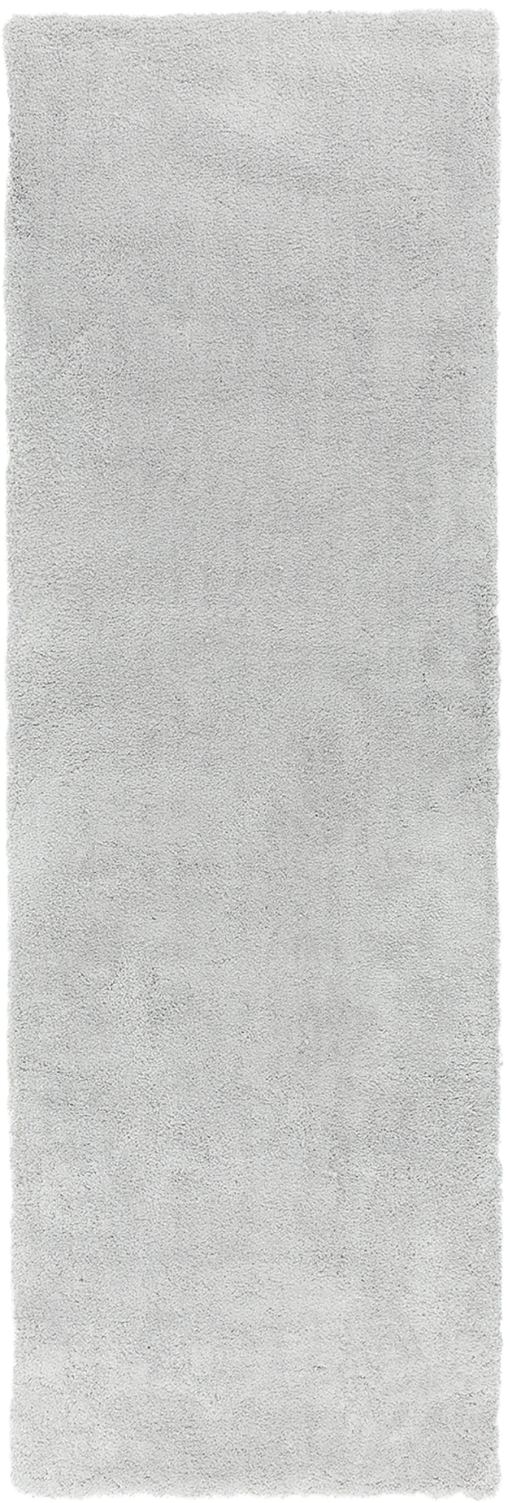 Passatoia pelosa morbida grigio chiaro Leighton, Retro: 70% poliestere, 30% coton, Grigio chiaro, Larg. 80 x Lung. 250 cm
